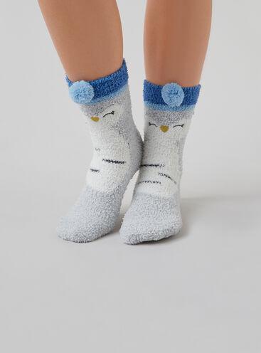 Owl cosy socks