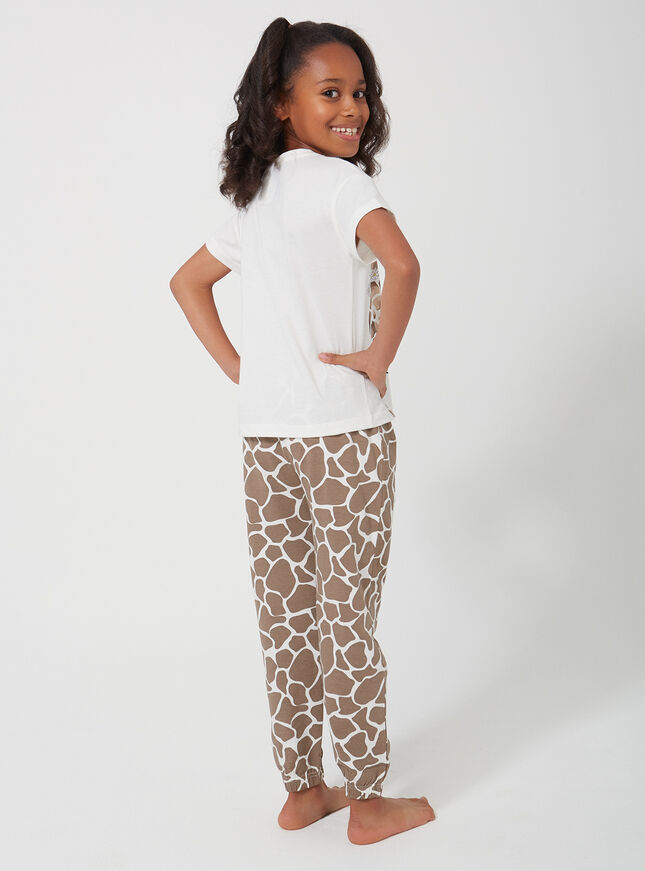 Girls giraffe pyjama set