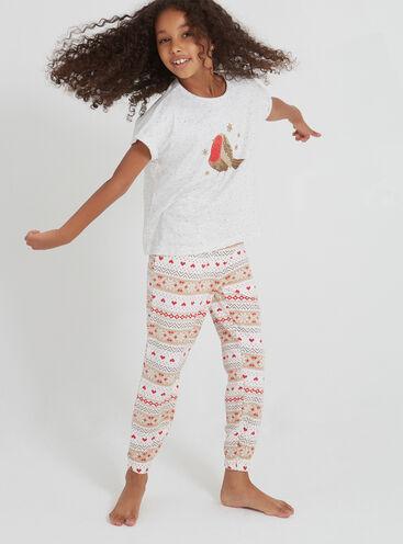 Girls robin pyjama set