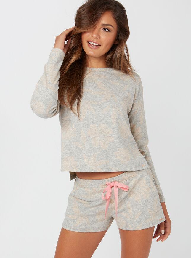 Rose jacquard shorts