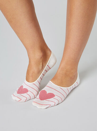 3 pack heart footsies