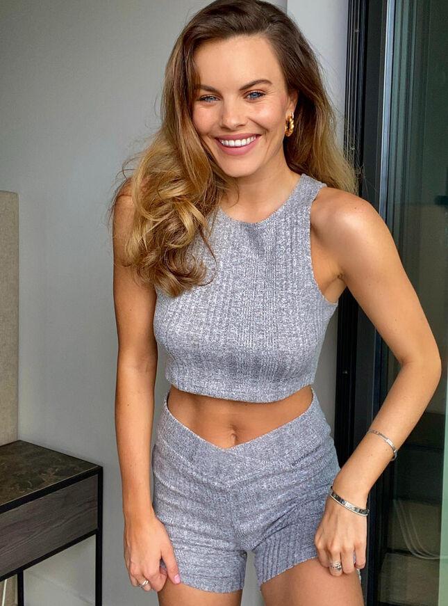 Lyla ribbed lounge cycling shorts