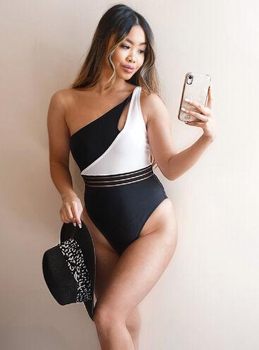 Sofia mono asymmetric swimsuit