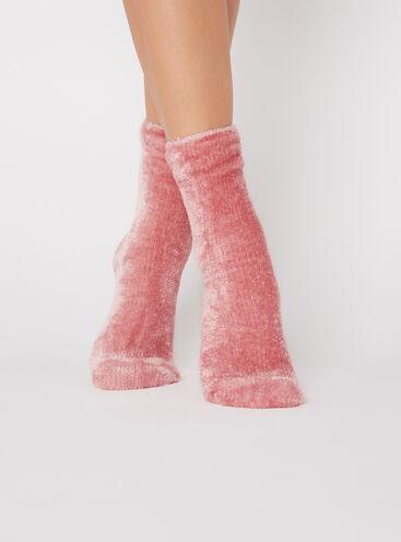 Velvet fleece socks