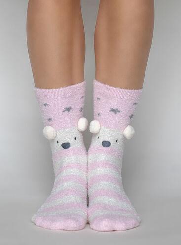 Polar bear cosy socks