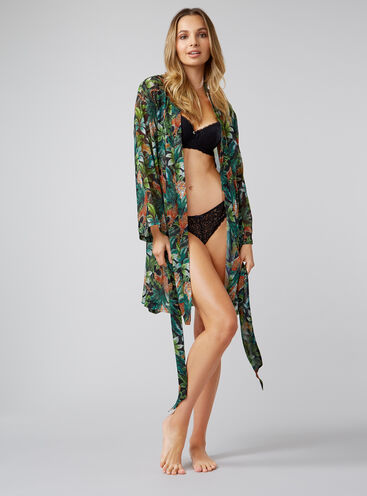 Jungle cheetah robe