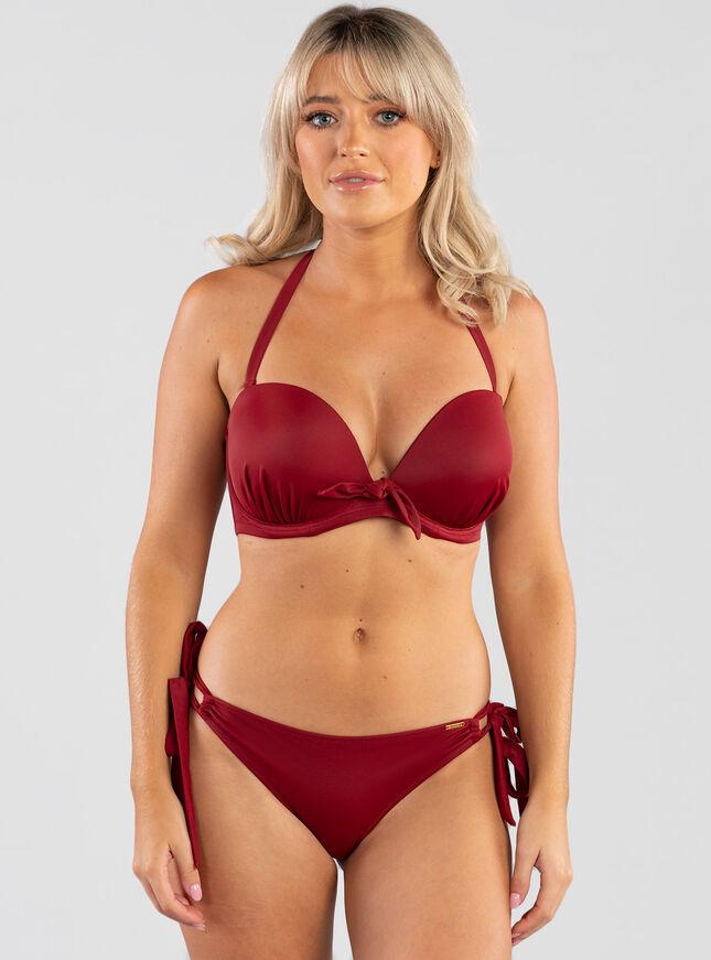 Valera bow balconette bikini top