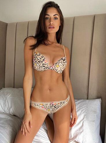 Lillie leopard plunge lingerie set