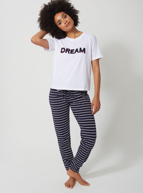 Dream stripe pyjama set