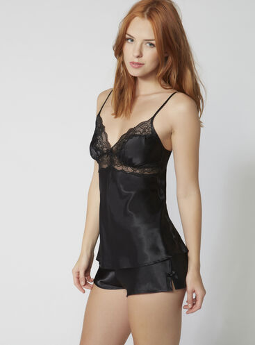 Cheryl satin cami and shorts set