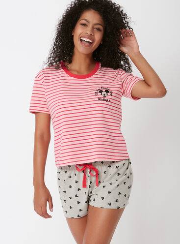 Mickey mouse stripe pyjama set