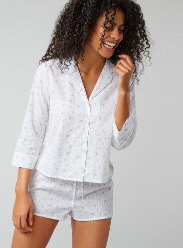 Floral dobby pyjama set