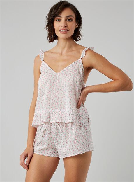 Ditsy floral cami and shorts set