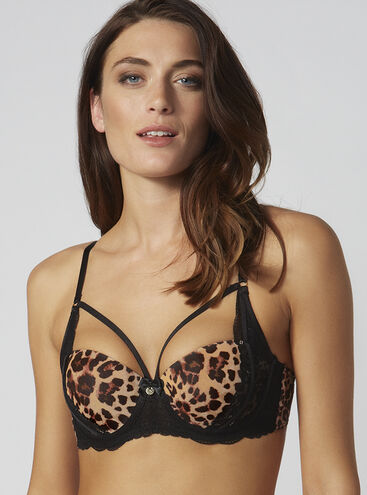 Mariette leopard balconette bra