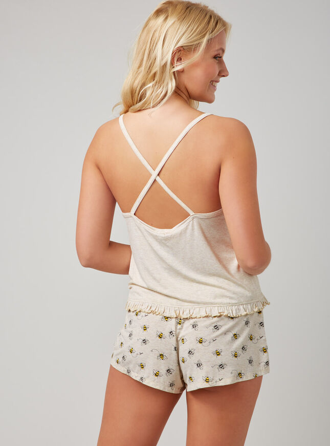 """Bee happy"" cami and shorts set"