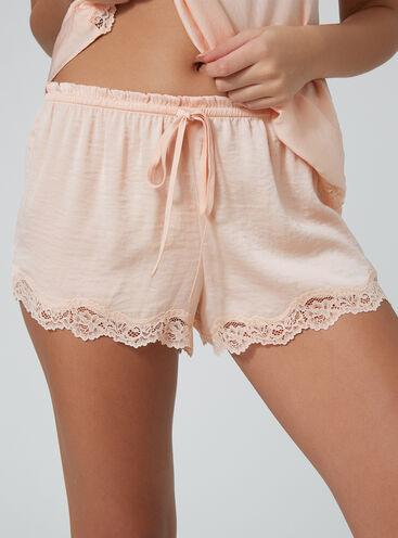 Lace trim shorts