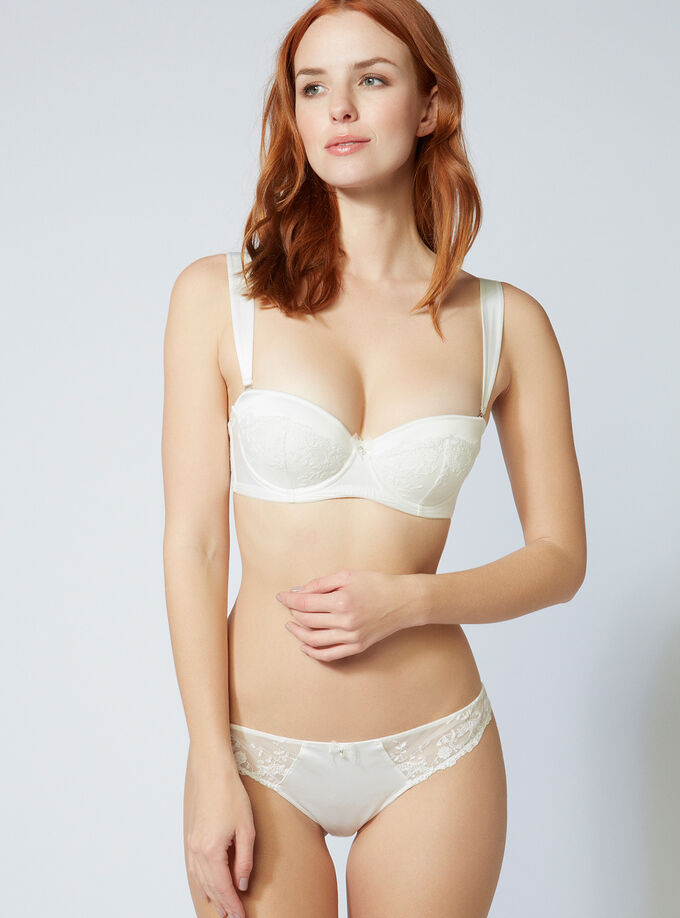 dd4b3b8b2c Angelina satin multiway bra. Model wears size 32C