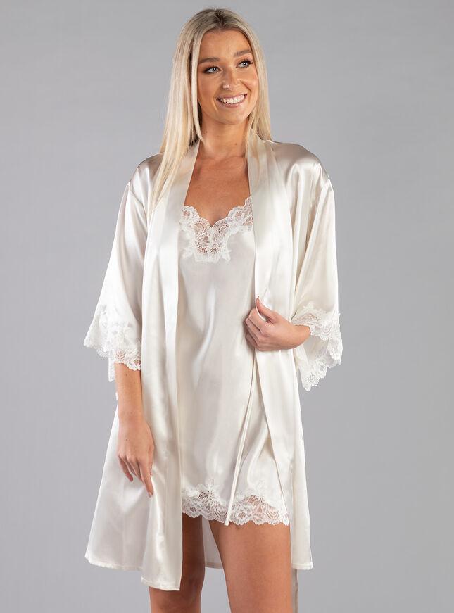 Darcie lace trim robe