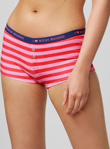 Stripe boy shorts