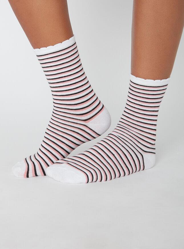 2 pack cat and stripe socks