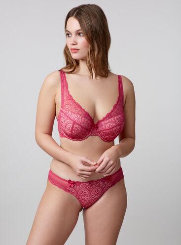 Tori lace plunge lingerie set