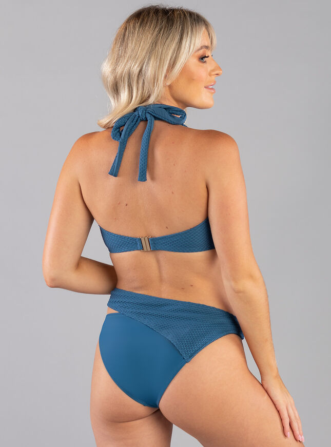 Mali textured balconette bikini top