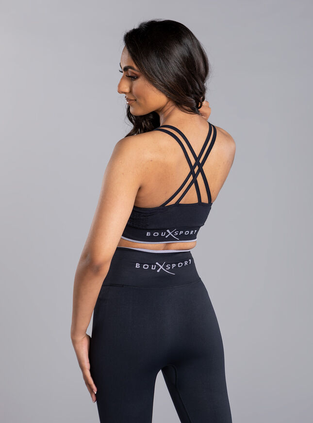 Boux Sport ribbed strappy crop top