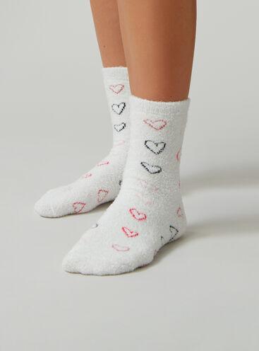 Heart cosy socks