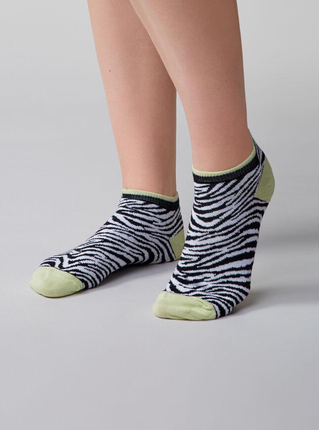 3 pack zebra trainer socks