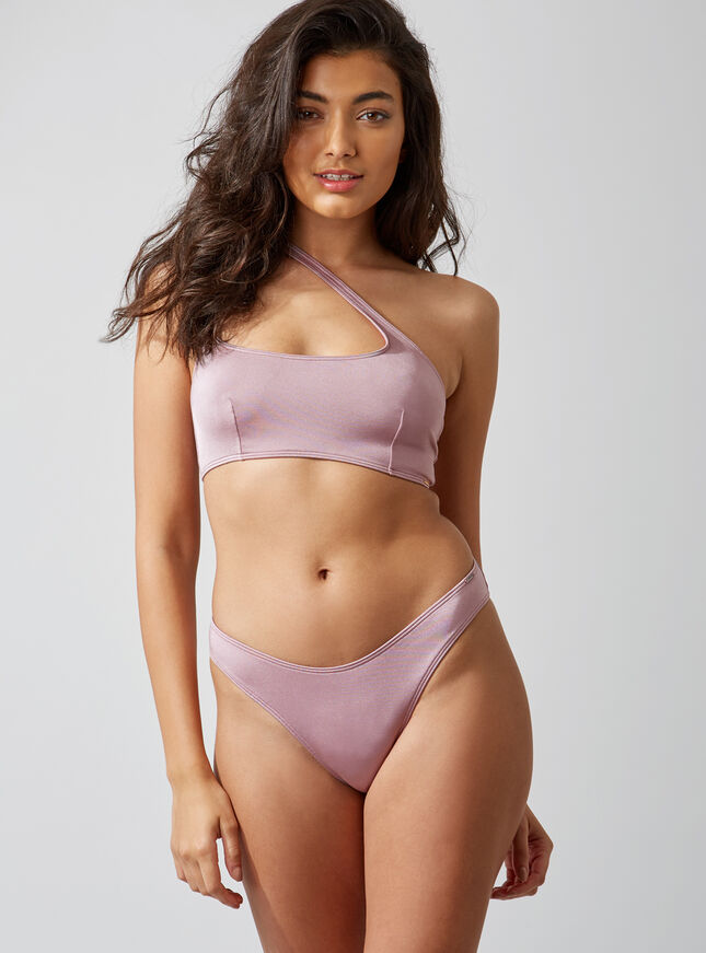 Activewear asymmetric bikini top