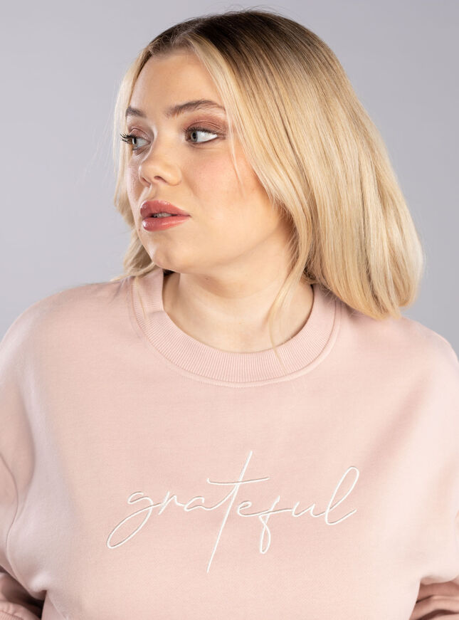 Grateful slogan tracksuit