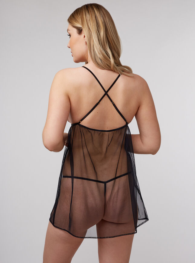 Bouxtique by Boux Avenue guipure lace trim babydoll and thong