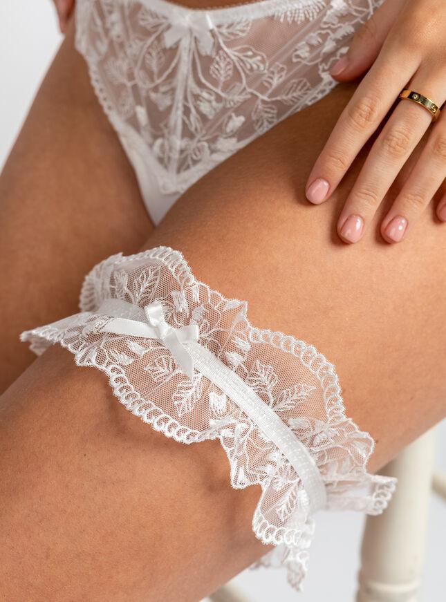 Bridal lace garter