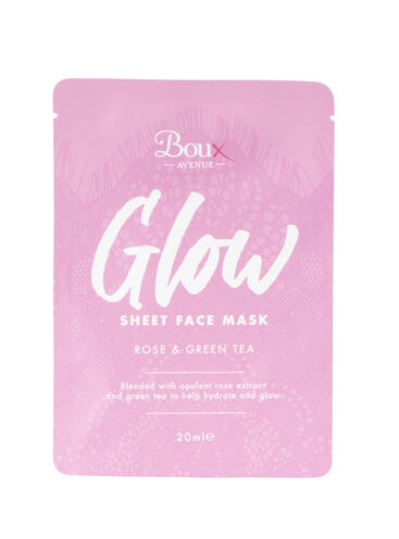 Glow sheet face mask