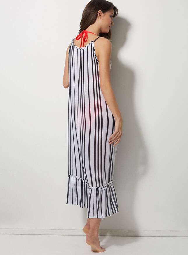 Stripey beach dress