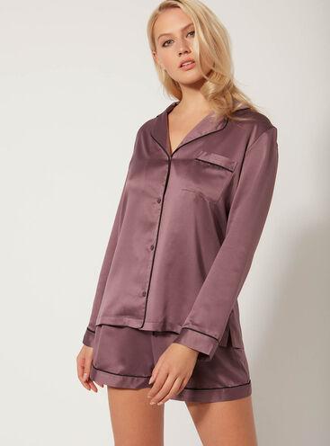 Short satin pyjama set