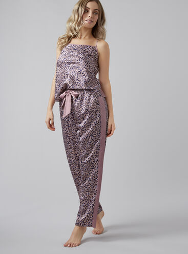 Leopard print cami and pants set