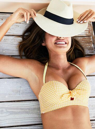 Bali gingham bikini top