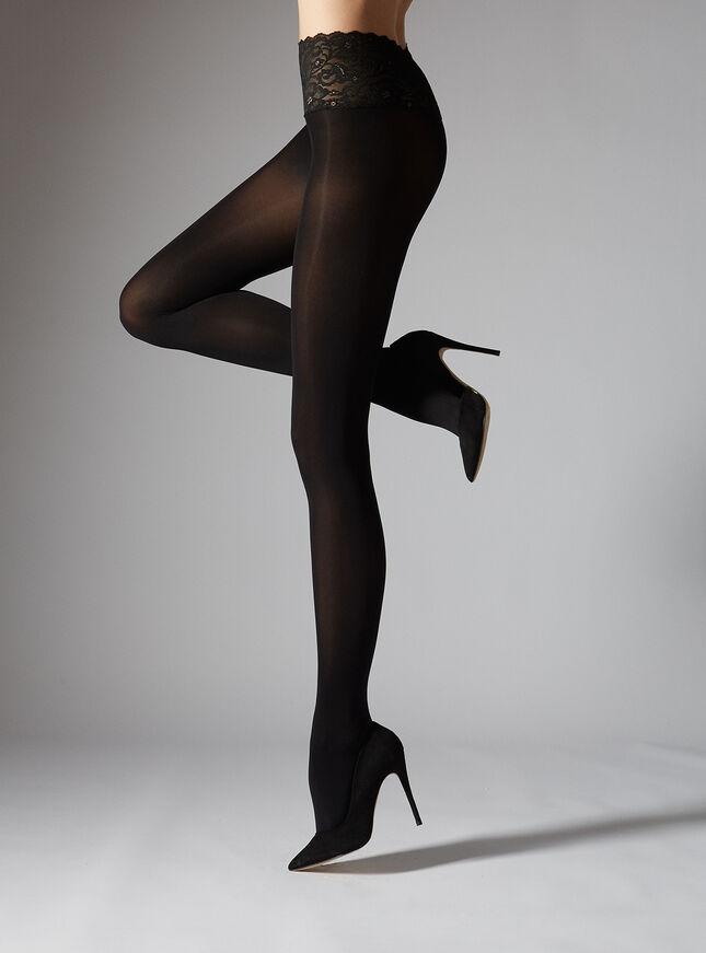 Lace top tights 40 denier