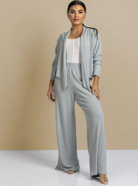 Lillie ribbed wide leg pant
