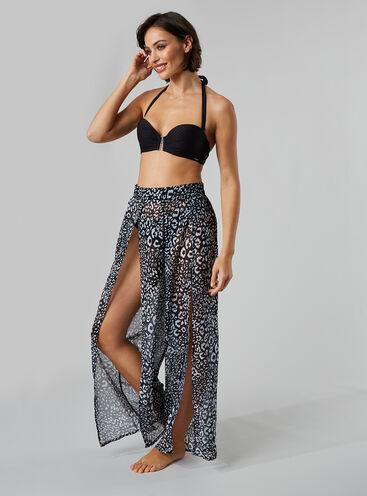 Mono leopard beach trousers