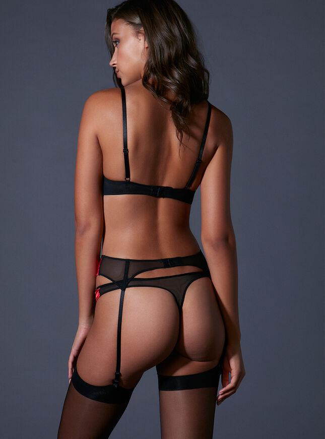 Kayleigh satin suspender belt