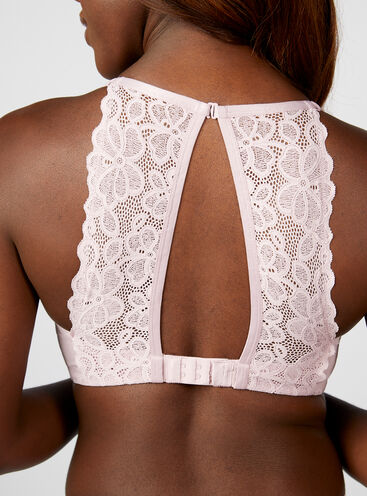 Boux Lounge lace non-wired plunge bra