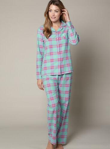 YD check pyjamas in a bag