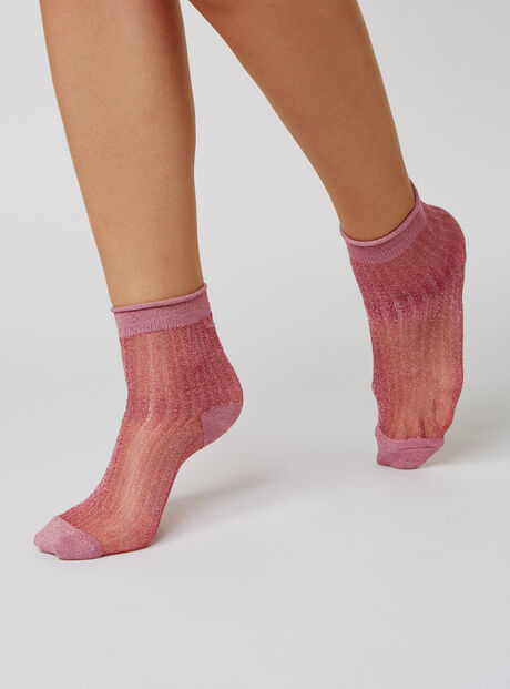 Sheer lurex socks