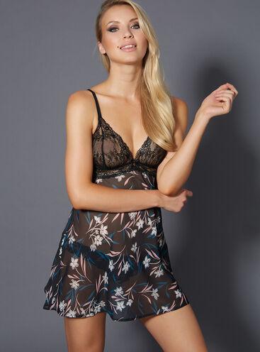 Sienna chiffon chemise and scrunch briefs