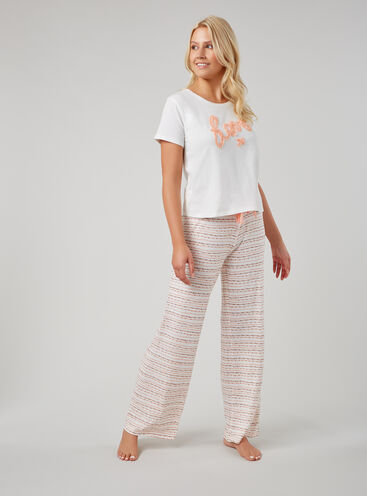 """Love"" tee and pants pyjama set"