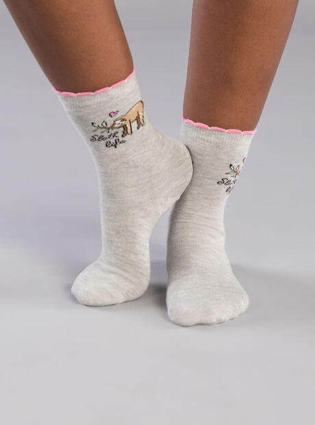 2 Pack sloth ankle socks