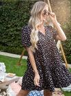 Sofia ditsy tiered smock dress