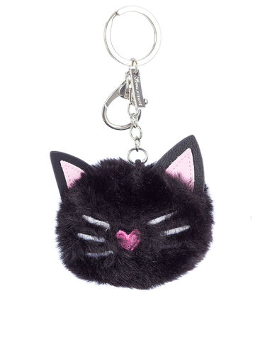 Fluffy cat keyring
